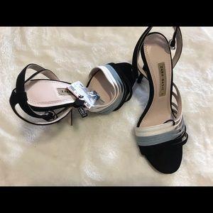 Zara heels multicolor straps
